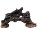 Large Dark Wood Arch Fish Tank Ornament with Stones