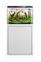 AllPondSolutions LED Light Fish Tank Cabinet Kit - White 70L - 57cm