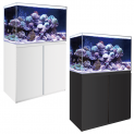 120cm Ultra Clear Glass Marine Fish Tank, Sump & Cabinet - White / Black 460L
