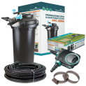 Pressurised Pond Filter PFC-20000 / AquaECO 8000 Pump / UV Steriliser / Hose + Jubilee Clips