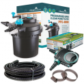 Pressurised Pond Filter PFC-8000 / AquaECO-4500 Pump / UV Steriliser / Hose + Jubilee Clips