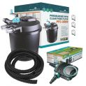 Pressurised spin clear pond filter PFC-2500 kit