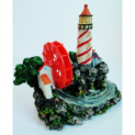 Fish Tank Lighthouse Ornament + Air Pump Gift Bundle